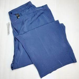 Eileen Fisher Silk Georgette Ankle Pants Blue 3X